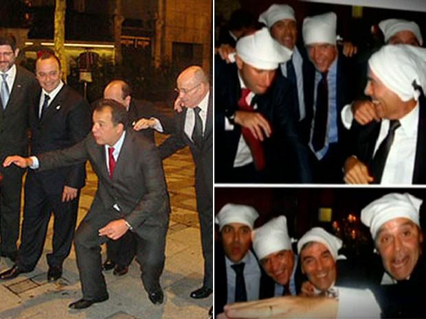 Sérgio Cabral-PMDB e colegas de Governo em Paris. Fotos: Reprodução