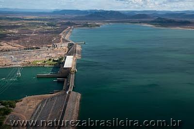 Barragem de Sobradinho - rio São Francisco - divisa BA com PE