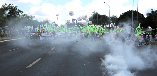 Protestos em Brasilia