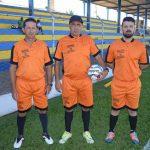 Arbitro Joca com os auxiliares Zé do Leite e Alan